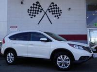 Options:  2014 Honda Cr-V Ex-L 4Dr Suv|White Diamond