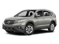 2014 Honda CR-V EX-L White Clean CARFAX. 23/31mpg*