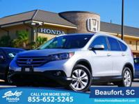 2014 Honda CR-V in Silver. Serious gas savings. Save