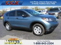 New Price! This 2014 Honda CR-V LX in Alabaster Silver