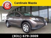 CARFAX One-Owner. Brown 2014 Honda CR-V LX FWD 5-Speed