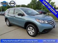 This 2014 CR-V is a one owner vehicle and has low miles