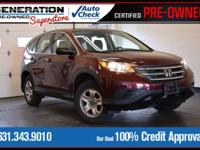 Red 2014 Honda CR-V LX AWD 5-Speed Automatic 2.4L I4
