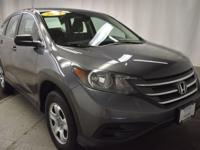 Boasts 30 Highway MPG and 22 City MPG! This Honda CR-V