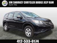 Recent Arrival! 2014 Honda CR-V LX CARFAX One-Owner.