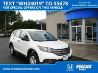 2014 CR-V LX  AWD. Adult sized cabin space plus some!