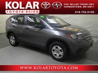 CR-V LX, AWD, ONE Owner Per AUTO CHECK History Report,