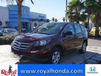 Options:  2014 Honda Cr-V Lx 2Wd|This Vehicle Has A