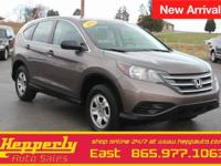 Clean CARFAX. This 2014 Honda CR-V LX in Kona Coffee