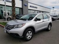 Options:  2014 Honda Cr-V Lx|Silver|Carfax One-Owner.