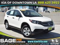 CARFAX One-Owner. Clean CARFAX. White 2014 Honda CR-V