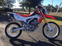 the CRF250L also provides on the useful side. It has