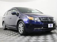 CARFAX One-Owner. Clean CARFAX. Blue 2014 Honda Odyssey