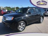 One owner, 2014 Honda Pilot EX-L in Black with Gray
