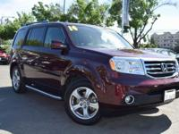 CARFAX One-Owner. Clean CARFAX. MAROON 2014 Honda Pilot