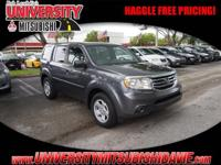 **HAGGLE FEE PRICING** 1-Owner 2014 Honda Pilot LX with