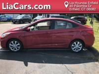 2014 Hyundai Accent in Boston Red Pearl, 1 Owner!,
