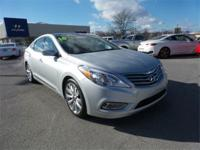 Clean CARFAX. 29/19 Highway/City MPG 2014 Hyundai Azera
