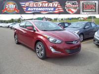 This 2014 Hyundai Elantra Limited... Features include: