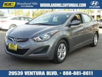 Options:  2014 Hyundai Elantra|Gray/Gray|V4 1.8 L