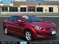 Certified!! 37/27 Highway/City MPG 2014 Hyundai Elantra