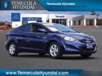 **Hyundai Certified ** and Clean Carfax!. 15 Alloy