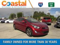 This 2014 Hyundai Elantra Limited in Red features: FWD