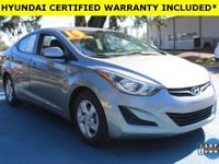 Certified. CARFAX One-Owner. Clean CARFAX. Hyundai