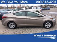 Clean CARFAX. Gold 2014 Hyundai Elantra FWD 6-Speed