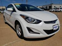 Monaco White 2014 Hyundai Elantra SE FWD 6-Speed Manual
