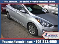 This 2014 Hyundai Elantra 4dr Sdn Auto SE is proudly