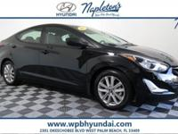 2014 Hyundai Black Elantra Certified. CARFAX One-Owner.