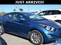 This Elantra features:  Clean CARFAX. 38/28