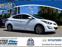 This Elantra features:Clean CARFAX. CARFAX One-Owner.