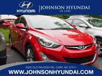 2014 Hyundai Elantra SE, Clean CarFax, and One Owner.