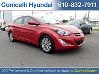 This Hyundai Elantra is Certified Preowned! CARFAX