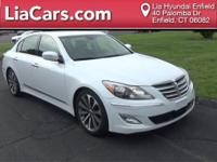2014 Hyundai Genesis in Casablanca White, 1 Owner!,