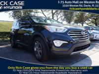 2014 Hyundai Santa Fe GLS in Black. Steady as she goes.