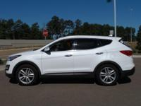 This 2014 Hyundai Santa Fe Sport 2.0L Turbo in White