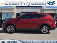 2014 Santa Fe Sport FWD 2.0T  in Serrano Red with Beige