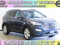 Clean CARFAX 1-Owner Marlin Blue 2014 Hyundai Santa Fe