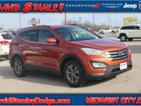 CARFAX One-Owner. Orange 2014 Hyundai Santa Fe Sport