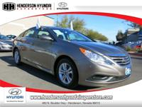 2014 HYUNDAI SONATA GLS in BRONZE has just 19,670 miles