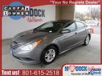 Gray 2014 Hyundai Sonata GLS FWD 6-Speed Automatic with
