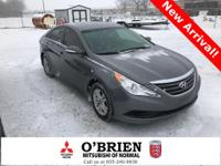 Clean CARFAX. Gray 2014 Hyundai Sonata GLS FWD 6-Speed