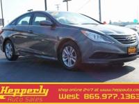 This 2014 Hyundai Sonata GLS in Harbor Gray Metallic