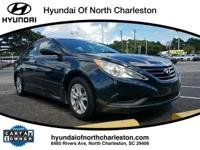 Blue 2014 Hyundai Sonata GLS FWD 6-Speed Automatic with