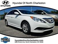 White 2014 Hyundai Sonata GLS FWD 6-Speed Automatic