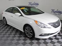 2014 Hyundai Sonata White Leather.PEARL WHITE (JR)