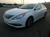 White 2014 Hyundai Sonata Limited FWD 6-Speed Automatic